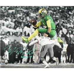 "Marcus Mariota Signed LE Oregon 20x24 Photo Inscribed ""Heisman '14"" (Steiner COA)"