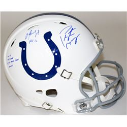 Peyton Manning  Marvin Harrison Signed LE Colts Full-Size Authentic Pro-Line Speed Helmet With (4) I