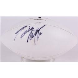 Hank Williams Jr. Signed Wilson White Panel Football (JSA COA)