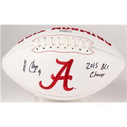 Amari Cooper Signed Alabama Crimson Tide Logo Football Inscribed  2013 BCS Champs  (Radtke Hologram)