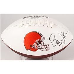 Bernie Kosar Signed Browns Logo Football (Radtke Hologram)