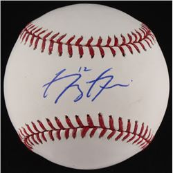 Greg Garcia Signed OML Baseball (JSA COA)