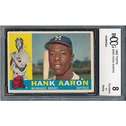 1960 Topps #300 Hank Aaron (BCCG 8)