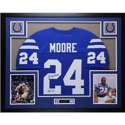"""Lenny Moore Signed Colts 35x43 Framed Photo Display Inscribed """"HOF 75"""" (JSA COA)"""