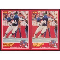 Lot of (2) 1989 Score #211 Thurman Thomas RC