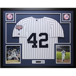 Mariano Rivera Signed Yankees 35x43 Custom Framed Jersey (Steiner COA)