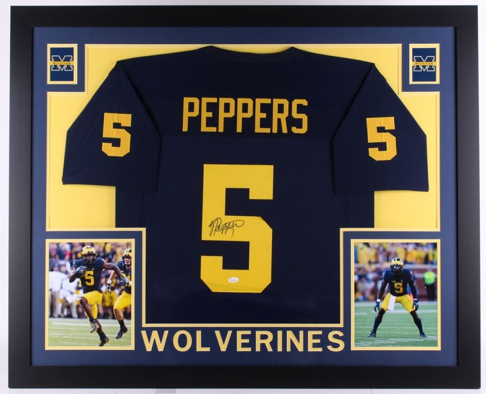 jabrill peppers signed michigan jersey
