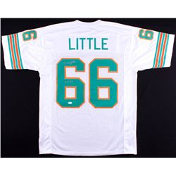 "Larry Little Signed Dolphins Jersey Inscribed ""HOF 93"" (JSA COA)"