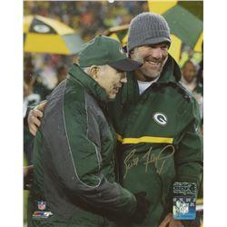 Brett Favre Signed Packers 8x10 Photo With Bart Starr (Radtke COA)