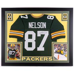 "Jordy Nelson Signed Packers 35"" x 43"" Custom Framed Jersey (JSA COA)"