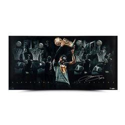 "LeBron James Signed Cavaliers ""Congratulations"" 18x36 Custom Framed Limited Edition Photo (UDA)"