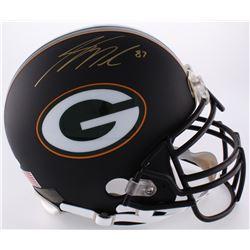 Jordy Nelson Signed Packers Full-Size Authentic On-Field Custom Matte Black Helmet (JSA COA)