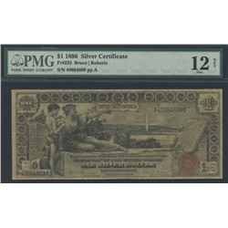 1896 $1 One Dollar U.S. Silver Certificate Large Size Currency Bank Note Bill Fr #225 (PMG 12)