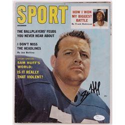 Sam HuffSigned Yankees Sport Magazine (JSA COA)