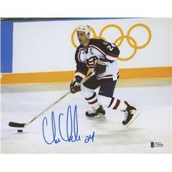 Chris Chelios Signed Team USA 8x10 Photo (Beckett COA)