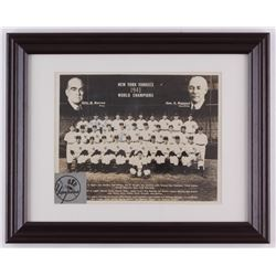 1941 Yankees 12x15 Custom Framed Team Photo Team-Signed by (5) with Joe Dimaggio, Red Ruffing, Bill