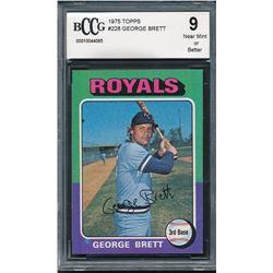 1975 Topps #228 George Brett RC (BCCG 9)
