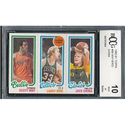 1980-81 Topps #98 47 Scott May / 30 Larry Bird TL / 232 Jack Sikma (BCCG 10)