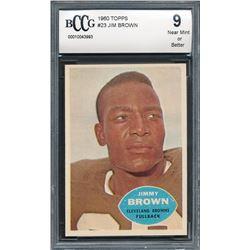1960 Topps #23 Jim Brown (BCCG 9)