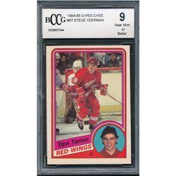 1984-85 O-Pee-Chee #67 Steve Yzerman RC (BCCG 9)