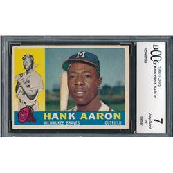 1960 Topps #300 Hank Aaron (BCCG 7)