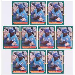 Lot of (10) 1987 Donruss Rookies #14 Bo Jackson
