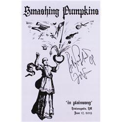 "Billy Corgan Signed 12x18 ""Smashing Pumpkins"" Concert Poster Inscribed ""SP""  ""2015"" (JSA ALOA)"