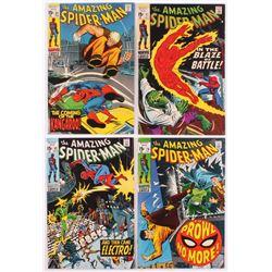 Lot of (4) Vintage The Amazing Spider-Man Marvel Comic Books