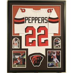 "Jabrill Peppers Signed Browns 34"" x 42"" Custom Framed Jersey (JSA COA)"