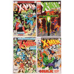 Lot of (4) Vintage X-Men Marvel Comic Books