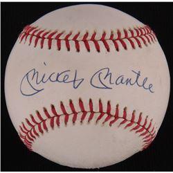 Mickey Mantle Signed OAL Baseball (PSA LOA)