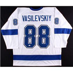 Andrei Vasilevskiy Signed Lightning Jersey (JSA)