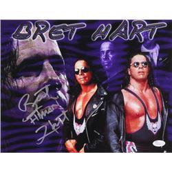 "Bret ""Hitman"" Hart Signed 11x14 Photo (JSA COA)"