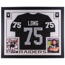 "Howie Long Signed Raiders 35"" x 43"" Custom Framed Jersey (JSA COA  Long Hologram)"