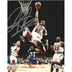 Dennis Rodman Signed Bulls 8x10 Photo (Beckett COA)