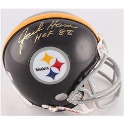 """Jack Ham Signed Steelers Mini-Helmet Inscribed """"HOF 88"""" (Radtke COA)"""