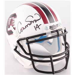 "Connor Shaw Signed South Carolina Mini-Helmet Inscribed ""7,766 Yds 74 Tds"" (Radtke COA)"