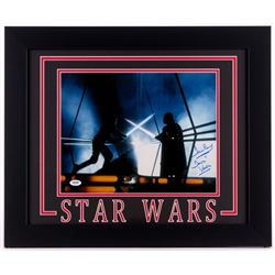 """David Prowse Signed """"Star Wars: The Empire Strikes Back"""" 19.5x23.5 Custom Framed Photo Inscribed """"is"""