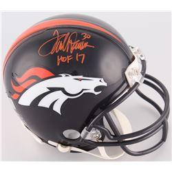 "Terrell Davis Signed Broncos Mini-Helmet Inscribed ""HOF 17"" (Radtke COA)"