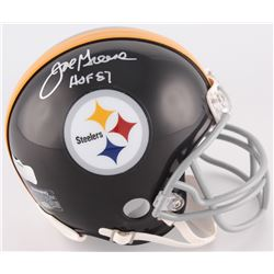 "Joe Greene Signed Steelers Throwback Mini-Helmet Inscribed ""HOF 87"" (Radtke COA)"