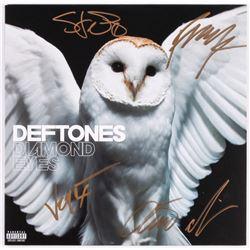 "Deftones ""Diamond Eyes"" Vinyl Record Cover Signed by (5) Sergio Vega, Stephen Carpenter, Frank Delga"