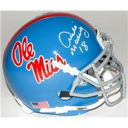 Archie Manning Signed Ole Miss Rebels Mini-Helmet (Steiner COA)