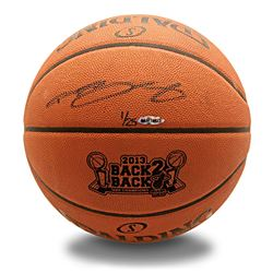 "LeBron James Signed ""2013 Back 2 Back NBA Champions"" Limited Edition Custom Engraved Basketball (UDA"
