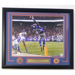 """Odell Beckham Jr. Signed Giants 22""""x27"""" Custom Framed Photo Display (JSA COA)"""