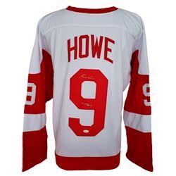 "Gordie Howe Signed Custom Pro-Style Red Wings Jersey Inscribed ""Mr. Hockey"" (JSA COA)"