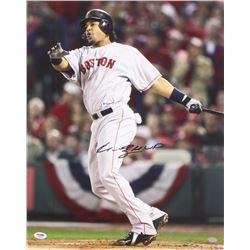 """Manny Ramirez Signed 16x20 Red Sox Photo Inscribed """"MVP"""" (PSA COA)"""