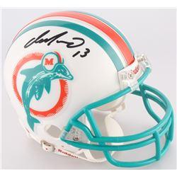 Jim Langer Signed Dolphins Mini Helmet (Upper Deck COA)