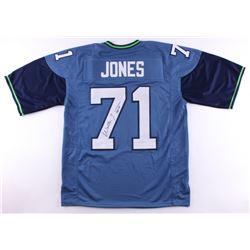"Walter Jones Signed Seahawks Jersey Inscribed ""HOF 14"" (JSA COA)"