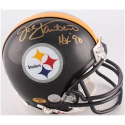 "Jack Lambert Signed Steelers Mini-Helmet Inscribed ""HOF 90"" (Radtke COA)"
