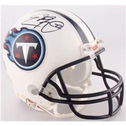 Eddie George Signed Titans Mini-Helmet (Radtke COA)